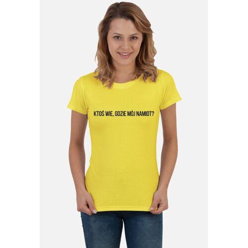 shortcut Gdzie mój namiot damska koszulka festiwalowa