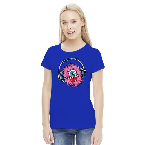 bombons Koszulka damska słuchawkowy potwór