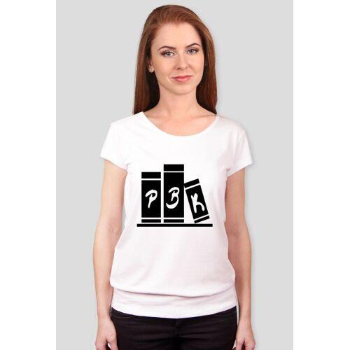 bezksiazekbezduszy Koszulka - pokój bez książek - logo+nazw