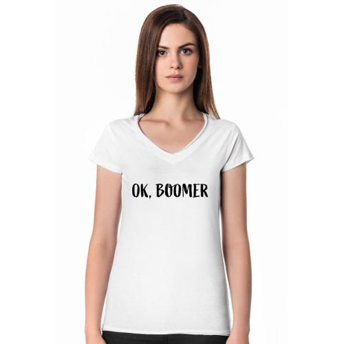 okboomer Ok, boomer - koszulka biała damska