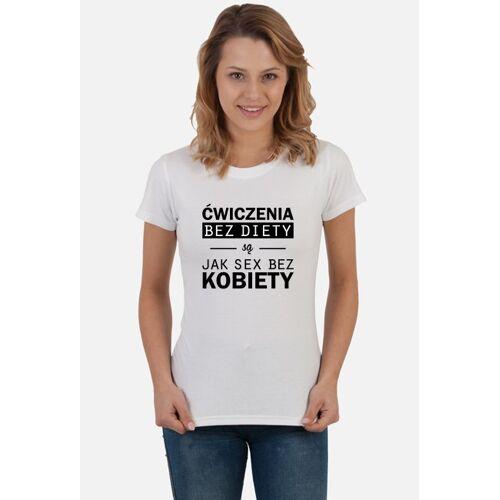 motywujemy24 ćwiczenia bez diety / t-shirt white