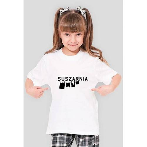 suszarniaa Dziecko t-shirt suszarnia white