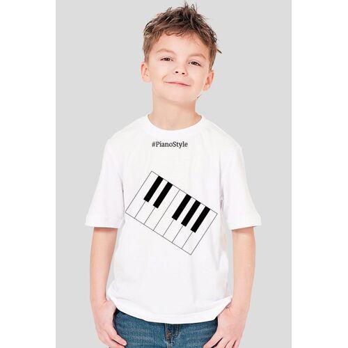 PianoStyle Koszulka pianostyle biała(dla dzieci)