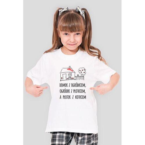 olborska Domek z ogródkiem - dziewczęcy t-shirt