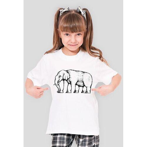 iluzje-optyczne Dziewczęca - słoń