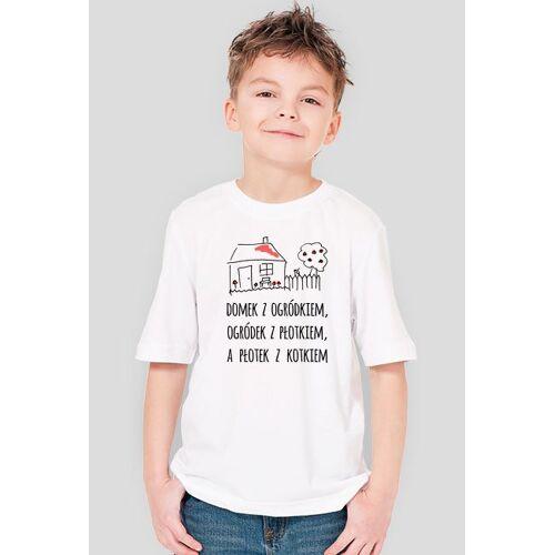 olborska Domek z ogródkiem - chłopięcy t-shirt