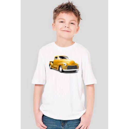 ShirtSELL żółta ciężarówka