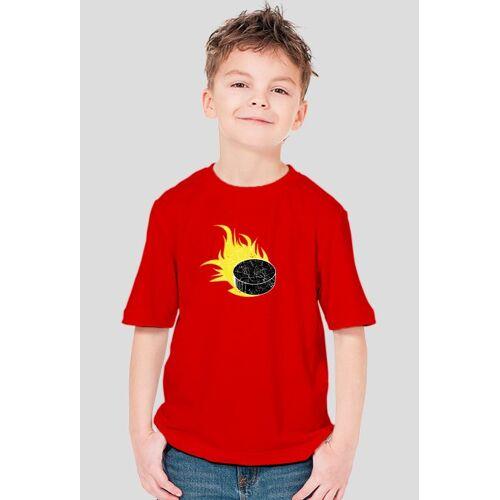 jestemhokeista T-shirt hokej owy fire puck