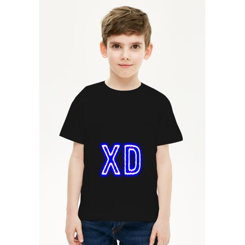 youngXD Koszulka na dzień dziecka neonowy napis xd