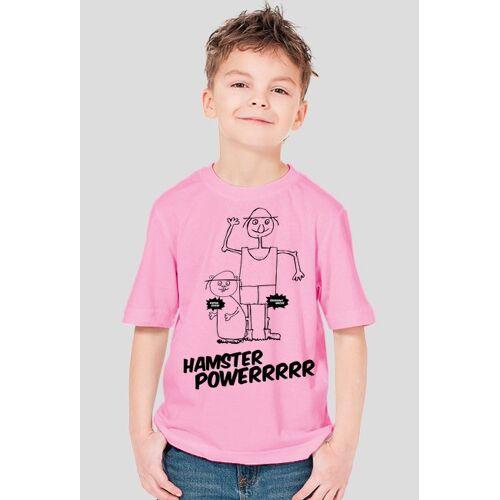 dzieciowisko Hamster powerrrrrr - koszulka fullprint dla dziecka, ubrania i podkoszulki dziecięce