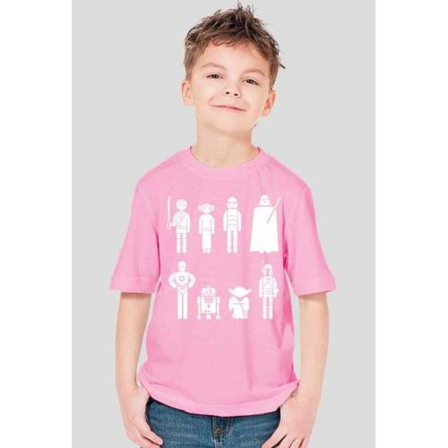 koszulki-filmowe Postacie z gwiezdnych wojen koszulka dziecięca