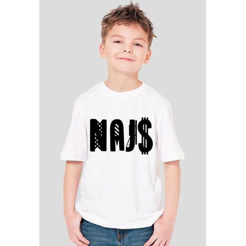 TzX T-shirt naj$ white chłopięcy