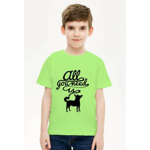 WorthIt T shirt chłopięcy all you need is dog