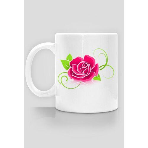 megart Kubek ceramiczny róża