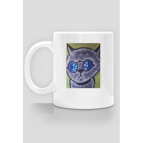 artystyczny Kot kubek