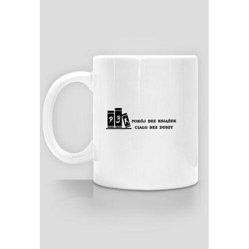 bezksiazekbezduszy Kubek - pokój bez książek - logo+nazwa(2)