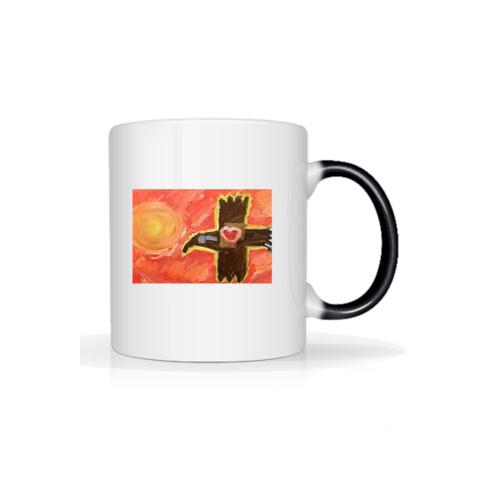 artystyczny Kubek kruk