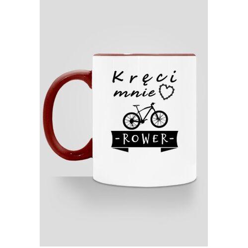 """RowerowySwiat Rowerowy kubek """"kręci mnie rower"""""""