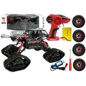 Lean Toys Auto Zdalnie Sterowane Terenowe R/C Czarny 4x4
