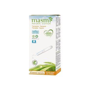 Masmi Organiczne baweniane tampony Super Plus z aplikatorem 14 szt.