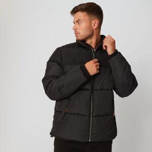 MP Men's Fabric Mix Puffer Jacket - Black - XS
