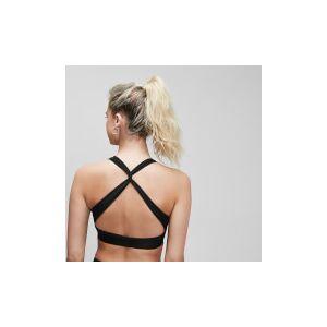 MP Damski stanik sportowy z ramiączkami krzyżowanymi na plecach Power MP – czarny - M