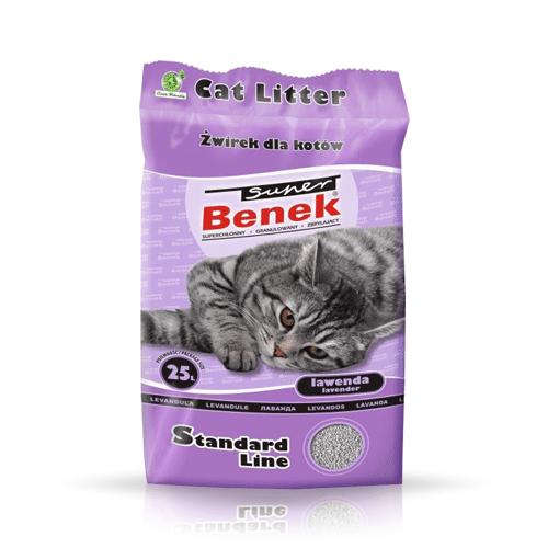BENEK Żwirek Super Benek Lawenda 2x10l