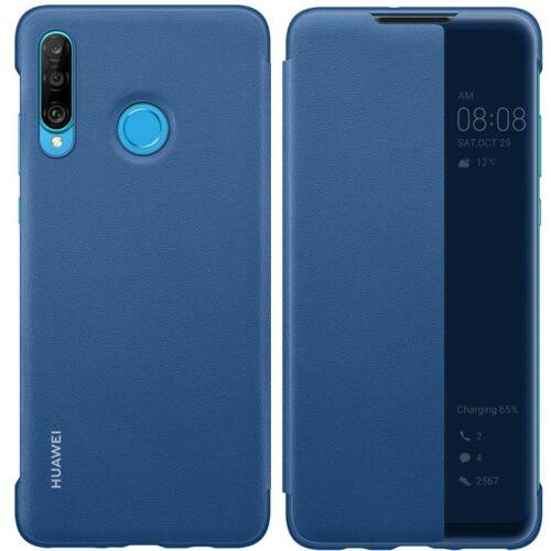Huawei [PO ZWROCIE] Huawei Smart View Flip Cover pokrowiec etui z klapką typu Smart Huawei P30 Lite niebieski (51993077)