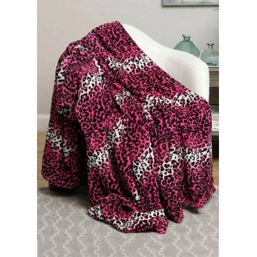 Fairyseason Colorful Leopard Microplush Warm Blanket