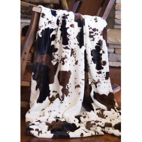 Fairyseason Cow Faux Fur Soft Warm Plush Blanket