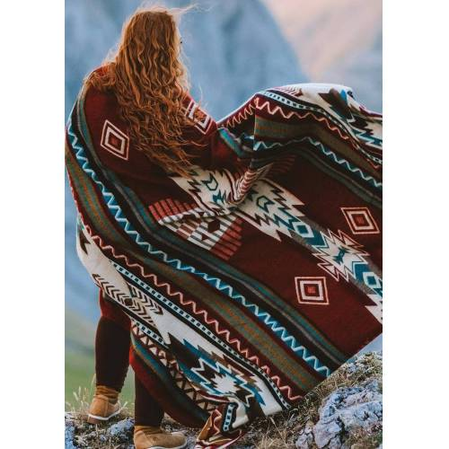 Fairyseason Aztec Geometric Soft Warm Blanket