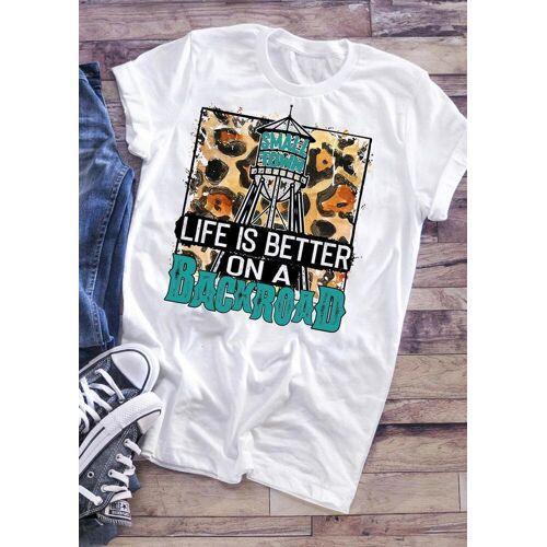 Fairyseason Life Is Better On A Backroad T-Shirt Tee - White