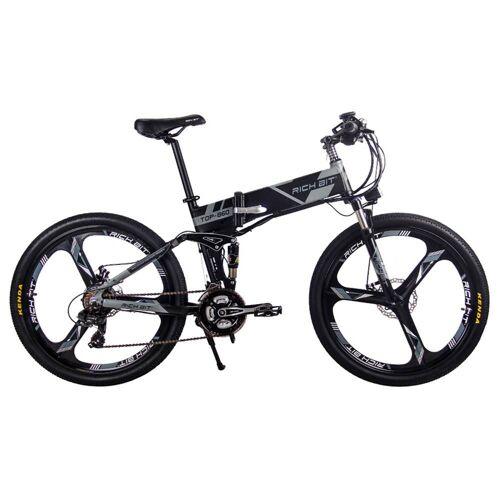 369741DEDF Rich Bit Top-860 – składany rower elektryczny, motorower, 26 cali – czarno-szary