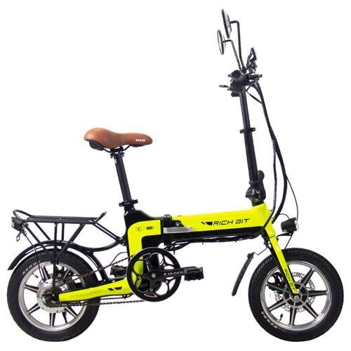369752DEDF RICH BIT Składany elektryczny motorower rower 14 '' TOP-619 250W 10,2Ah - zielony