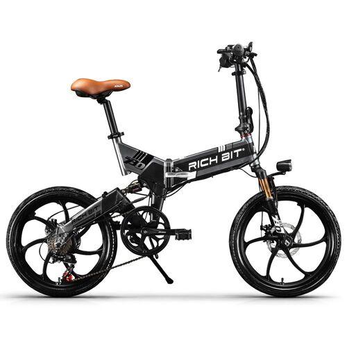 369746DEDF RICH BIT TOP-730 Składany rower elektryczny Opony 20 '' 250W - czarny szary