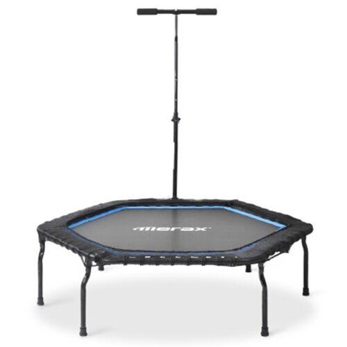 372025DEDF Merax 50 '' Składana trampolina fitness do domu - niebieska