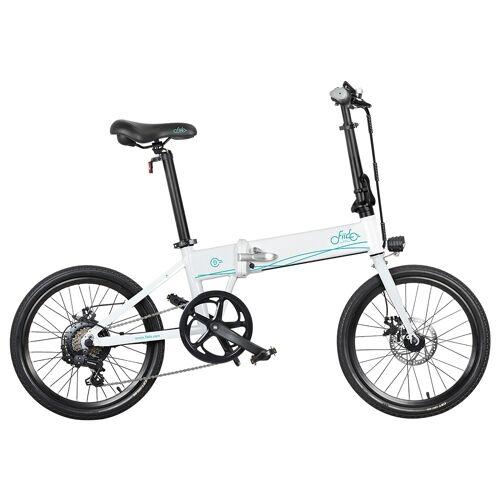 """372043PLDF Składany rower elektryczny Fiido D4S, 20"""", 250 W – biały"""