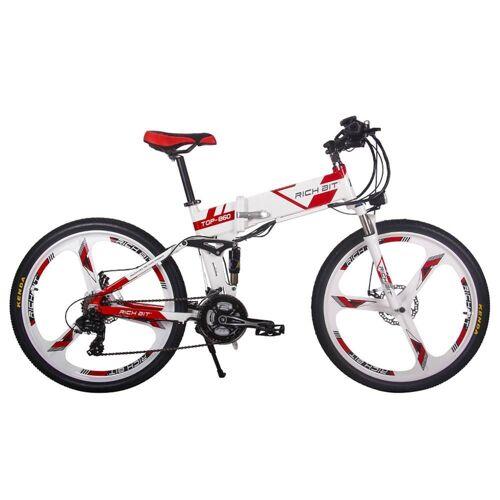 369743DEDF Rich Bit Top-860 – składany rower elektryczny, motorower, 26 cali - Czerwony