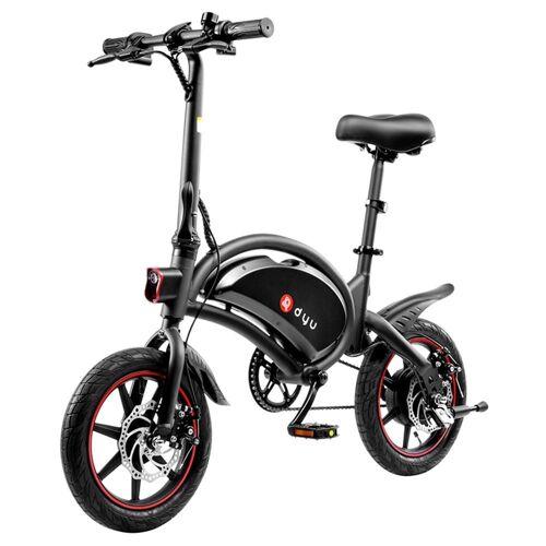 372379PLDF DYU D3F Składany rower elektryczny motorower 14 '' 240W 6Ah - Czarny