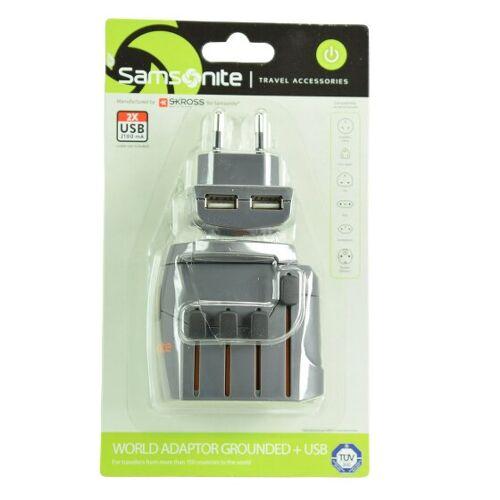 Samsonite Travel Accessories World Adapter III graphite  - szary - Mężczyźni,Damy,Unisex - Dorośli
