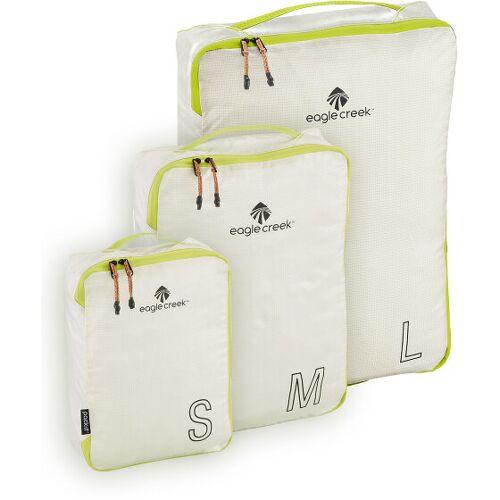 Eagle Creek Pack-It Cube Torebka do przechowywania Zestawy 3-części white/strobe  - biały - Unisex - Dorośli,Mężczyźni,Damy