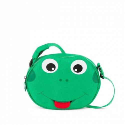 Affenzahn Mini Freunde Torba przedszkolna 22 cm Finn Frosch  - zielony - Unisex - Dzieci