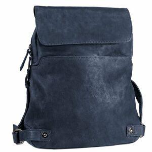 Harold's Pull Up Plecak składany skórzany 38 cm midnightblue