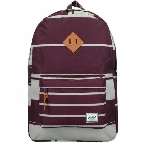 Herschel Heritage Plecak 47 cm przegroda na laptopa prep stripe blackberry wine  - liliowy - Damy,Mężczyźni,Unisex - Dorośli