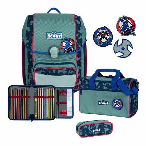 Scout Genius zestaw szkolny 4cz. blue ninja  - zielony - Unisex - Dzieci