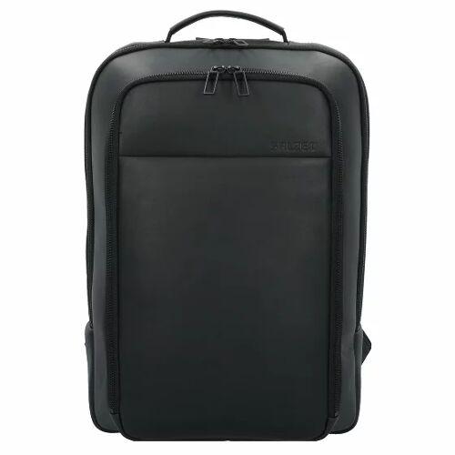 Salzen biznesowy Backpack Plecak biznesowy skórzany 43 cm total black  - czarny - Mężczyźni,Unisex - Dorośli,Damy