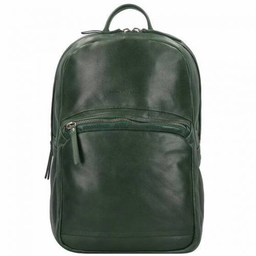 Aunts & Uncles Soundcheck Subwoofer Business Plecak skórzana 41 cm przegroda na laptopa greenery  - zielony - Damy,Mężczyźni,Unisex - Dorośli