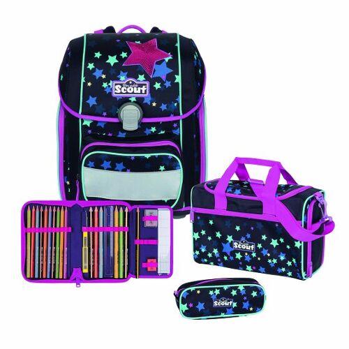 Scout Genius zestaw szkolny 4cz. sweet stars  - szary - Unisex - Dzieci