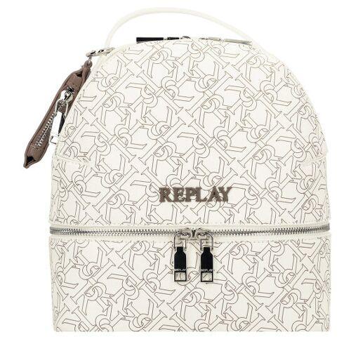 Replay Plecak miejski 25 cm white  - biały - Damy