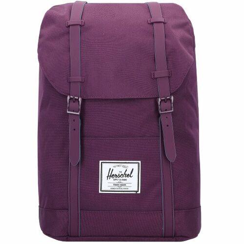 Herschel Retreat Plecak 42 cm przegroda na laptopa blackberry wine  - liliowy - Mężczyźni,Unisex - Dorośli,Damy